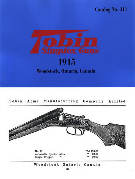 Tobin Simplex Guns 1915 Catalog