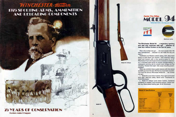 Winchester 1975 Sporting Arms Catalog - 75 Years of Conservation