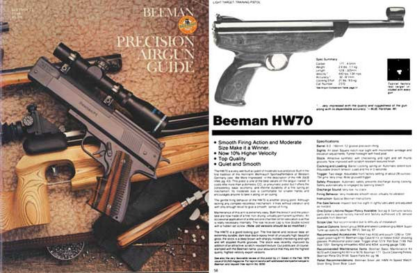 Beeman 1985 Air Guns Catalog