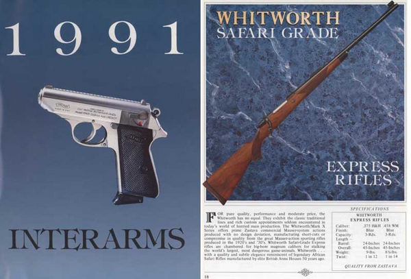 Interarms 1991 Gun Catalog
