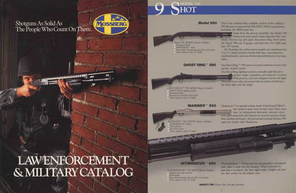 Mossberg 1985c Law Enforcement & Military Catalog