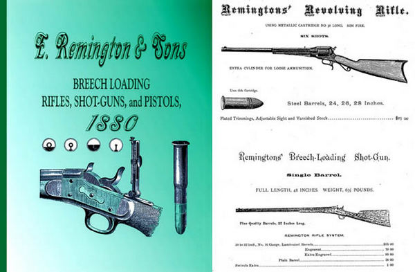 Remington c1880 & Sons Rifles, Guns & Revolvers Catalog (short)