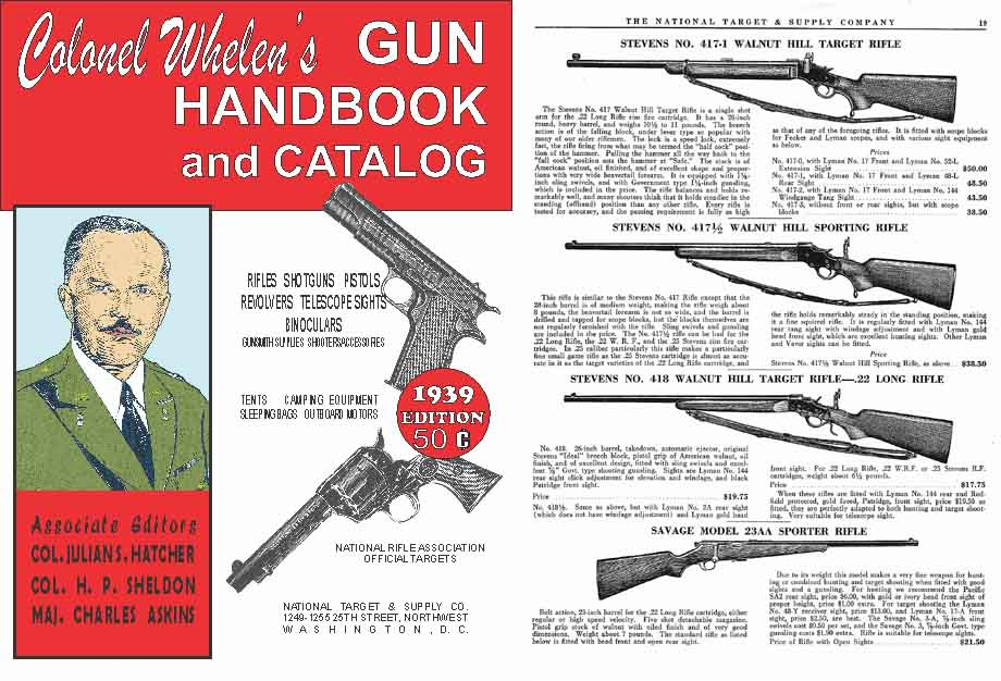 Whelen's (Col) 1939 National Target & Supply Gun Handbook-Catalog (Wash. DC)