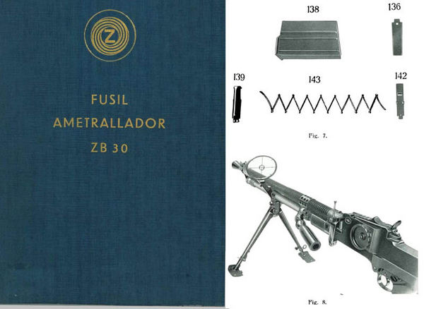 Fusil Ametrallador ZB30 (Spanish- Automatic Rifle) Manual