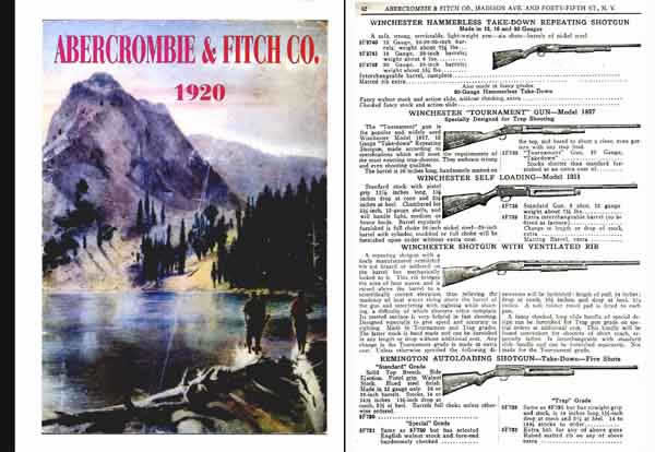Abercrombie & Fitch Firearms & Sports 1920 Catalog