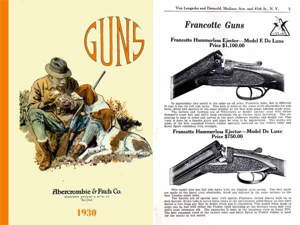 Abercrombie & Fitch Firearms & Sports 1930 Catalog