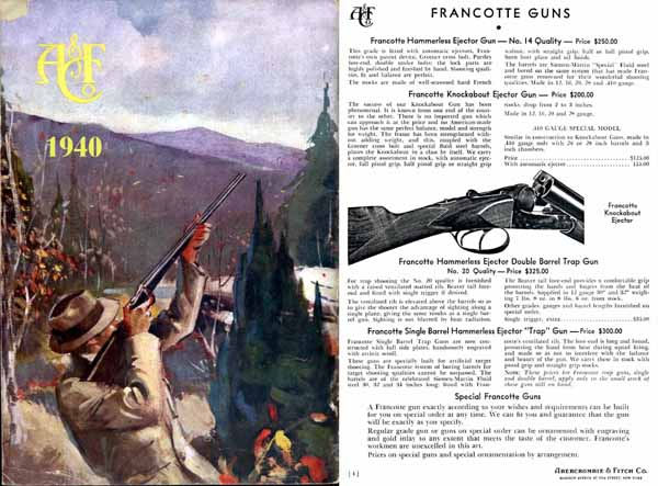 Abercrombie & Fitch Firearms & Sports 1940 Catalog