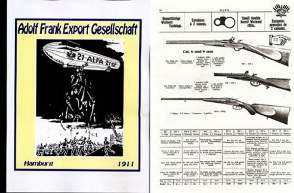 ALFA (German - Eng, Sp, Fr, Eng text) 1911 Gun Catalog