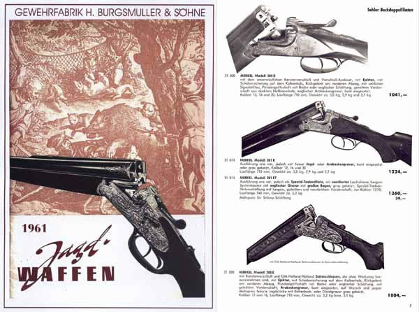 H. Burgsmuller & Sohne Jagd Waffen 1961