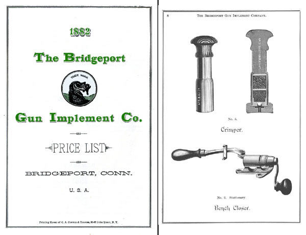 Bridgeport Gun Implement Co. 1882 Reloading Equipment Catalog