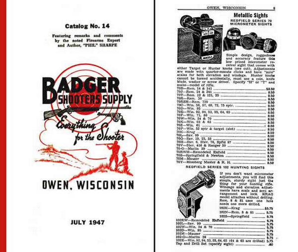 Badger Shooters Supply 1947 Gun Catalog (Owen, WI)