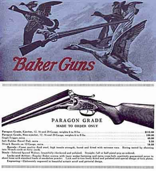 Baker Guns c1914 Catalog