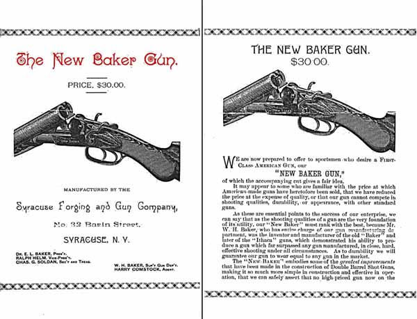 New Baker Gun - Syracuse Forging and Gun Company c1887