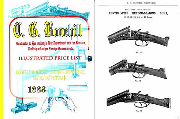 Bonehill, CG 1888 Guns, Rifles, Revolvers, Ammo etc. Catalog