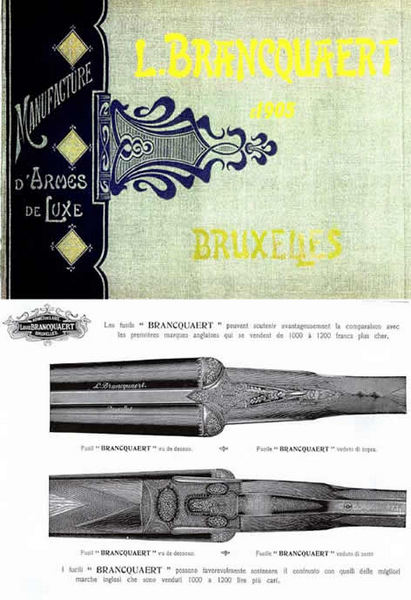 L. Brancquaert Manufacture d'Armes de Luxe 1905 Gun Catalog