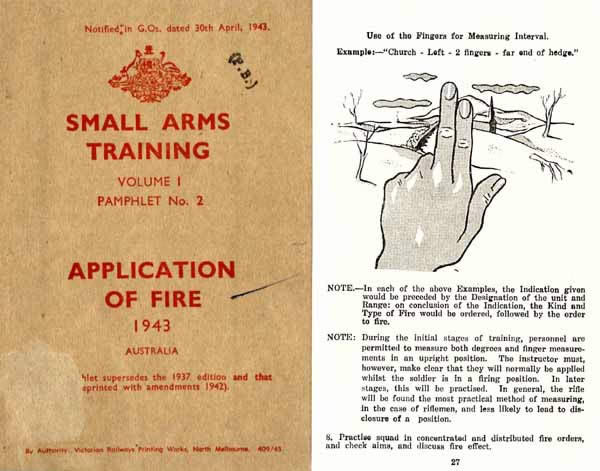 Application of Fire 1943 - Small Arms Training - Australia Manual