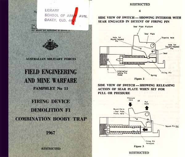 Booby Traps - Mine Warfare 1967 - Australian -Manual