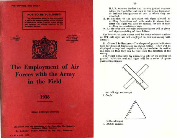 Employment of Air Forces with the Army in the Field 1938