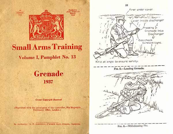 Grenade 1937 Small Arms Training Manual