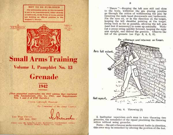 Grenade 1942 Small Arms Training Manual