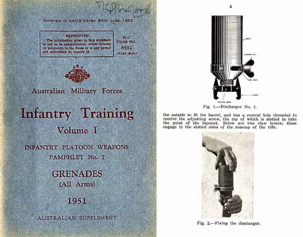 Grenade 1951 Infantry Training Manual - Australian