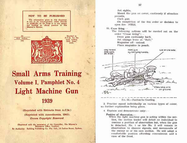 Bren 1939 .303 Light Machine Gun- Small Arms Training No. 4 (UK) -Manual