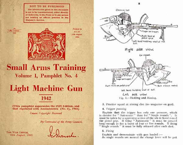 Bren 1942 .303 Light Machine Gun- Small Arms Training (UK) -Manual