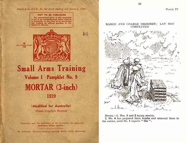 Mortar - 3 inch - Small Arms Training 1939 Australia