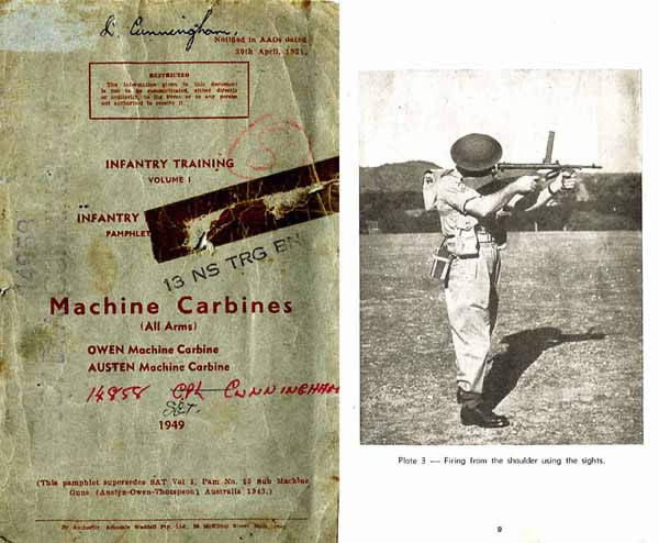 Austen & Owens Machine Carbine 1949 Small Arms Training Manual