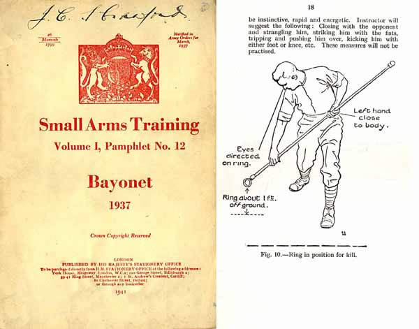 Bayonet Training 1937 - Australian Small Arms Training Manual- rev. 1941