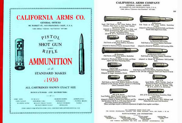 California Arms Company 1930 Ammunition Catalog (San Francisco)
