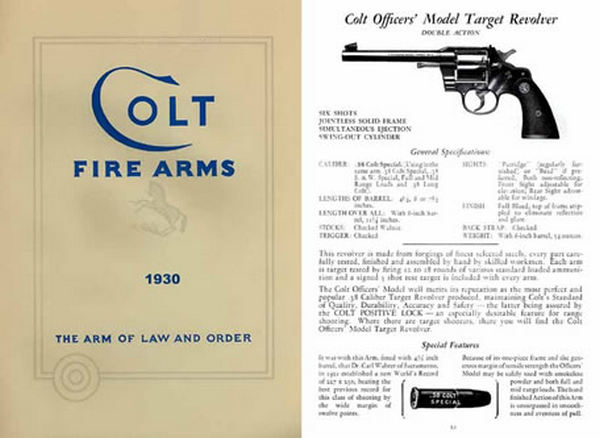 Colt 1930 Fire Arms Catalogue