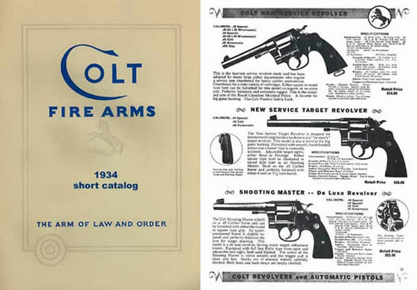 Colt 1934 Fire Arms Short Catalog