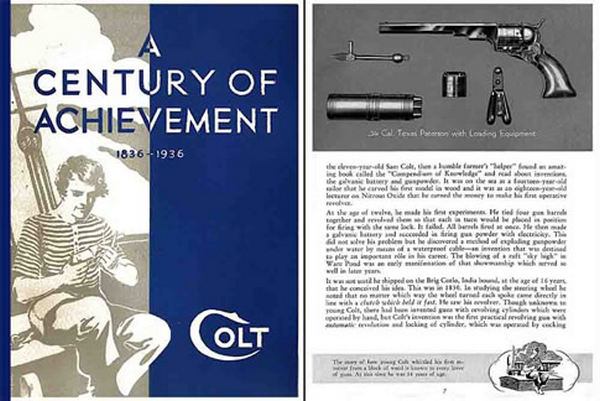 Colt 1936 Firearms Catalog- A Century of Achievement