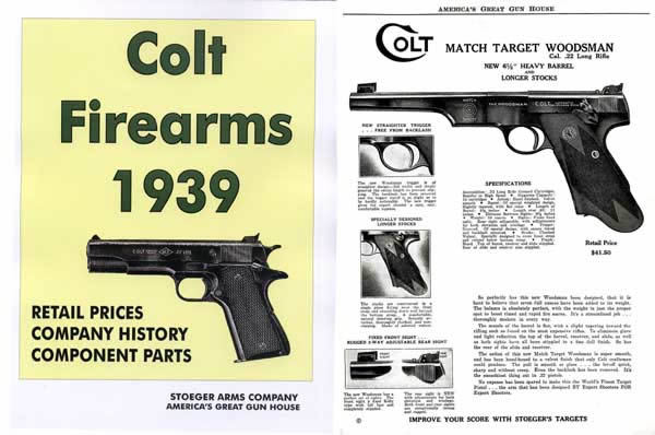 Colt 1939 Firearms & Component Parts Stoeger Catalog