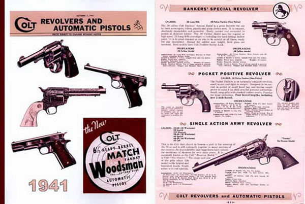 Colt 1941 Revolvers and Automatic Pistols Catalog