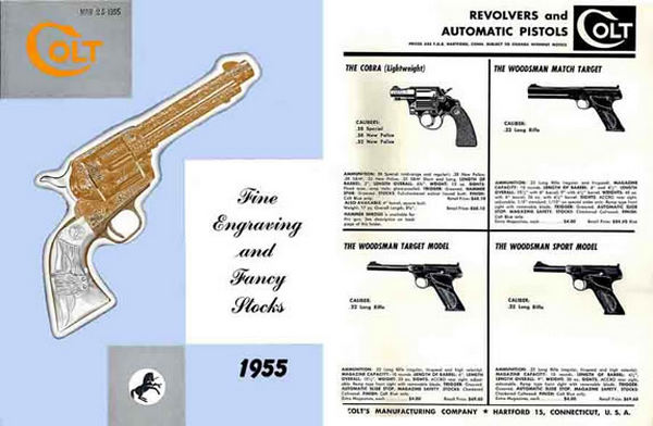 Colt 1955 Fine Engraving, Stocks and Guns Catalog