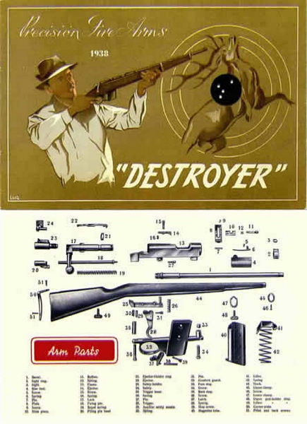 Ayra Durex Company 1938 Destroyer Carbine Gun Catalog