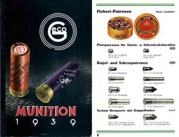 GECO Munitions 1939 Catalog