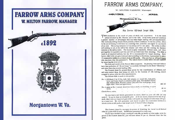 Farrow Arms Company c1892 Catalog