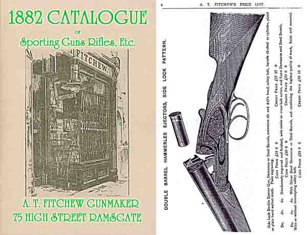 AT Fitchew, Gunmaker, Ramsgate (UK) 1882 Catalog
