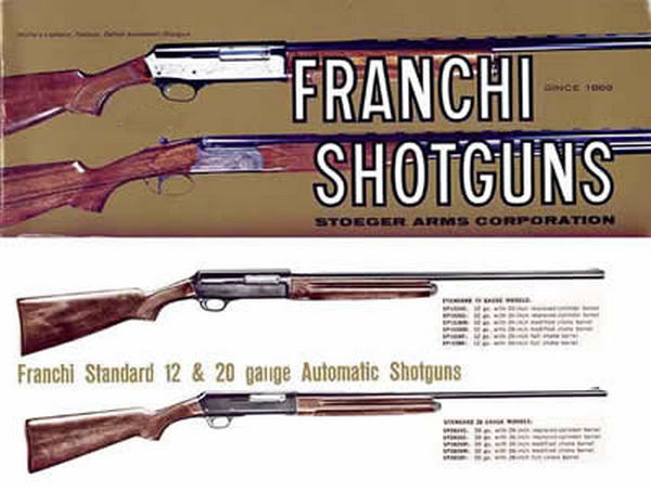 Franchi c.1961 Shotguns Catalog