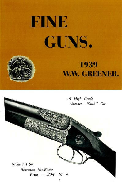WW Greener 1939 Fine Guns Catalog
