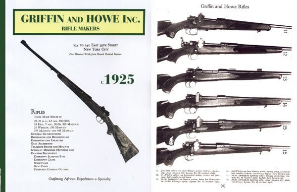 Griffin & Howe c.1925 Custom Rifles Gun Catalog