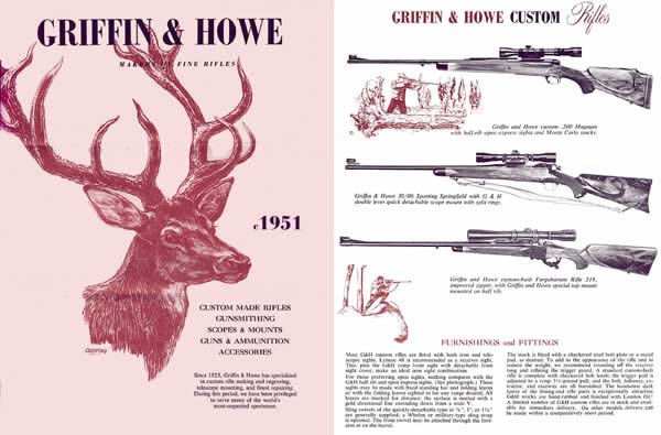 Griffin & Howe c.1951 Custom Rifles Gun Catalog