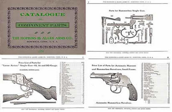 Cornell Publications Hopkins Allen 1914 Arms Parts Catalog