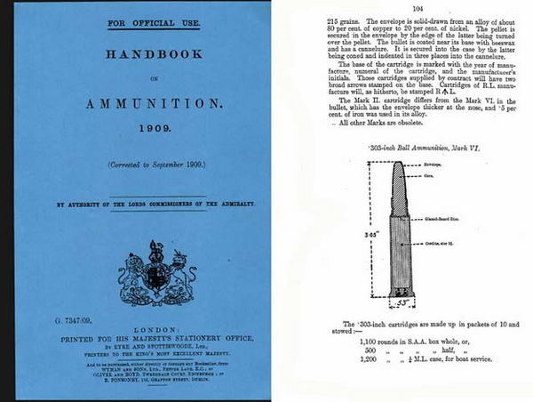 Handbook on Ammunition 1909 (Admiralty Publ-UK)