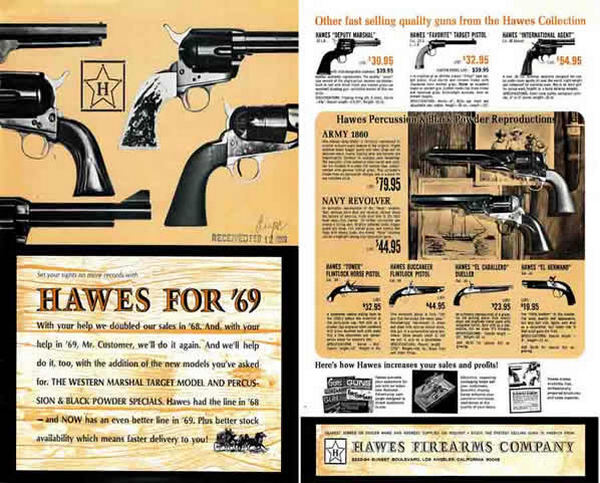 Hawes Firearms Company 1969 Gun Catalog
