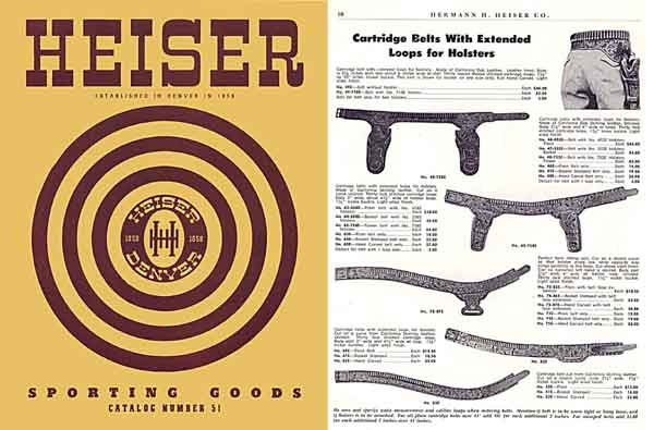 Heiser 1951 Leather and Sporting Goods No. 51 Catalog (Colorado)