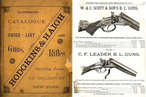 Hodgekins & Haigh, NY, c1883 Guns & Access Catalog